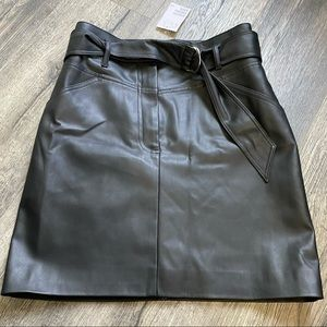HnM Faux leather high waisted skirt